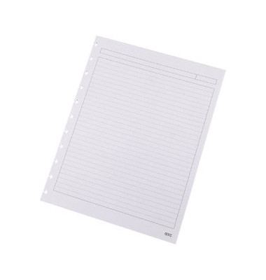 Ringbucheinlage A4 liniert für ARC Spiralbuch weiß 100g 50 Blatt