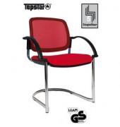 Visitor Open Chair 30 rot Schwingstuhl OC390A T31 mit Netzrücken mit Armlehnen