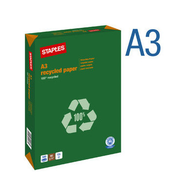 recycled Paper A3 80g Recyclingpapier weiß 500 Blatt