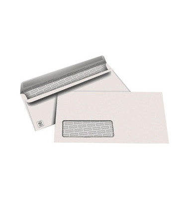 Briefumschläge Din Lang mit Fenster selbstklebend 80g weiß 1000 Stück