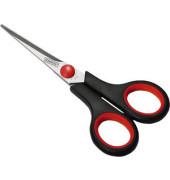 Schere Softgrip 14cm schwarz/rot spitz