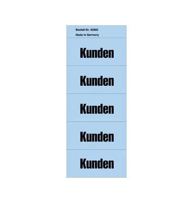 Inhaltsschilder Kunden blau 57x28mm selbstklebend 100 Stück