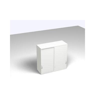 Aufsatzaktenschrank ClassicLine SBCCF26-W3W3W3W3K0D01E3003, Holz abschließbar, 3 OH, 120 x 115 x 45 cm, weiß