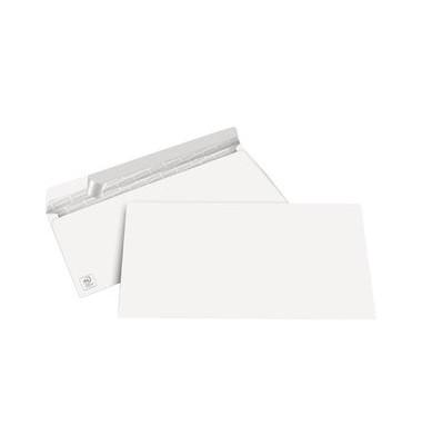 Briefumschläge Din Lang ohne Fenster haftklebend 100g weiß 100 Stück