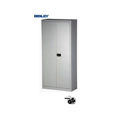 Akten-/Garderobenschrank Universal E782AAG-445, Stahl abschließbar, 5 OH, 91,4 x 195 x 40 cm, lichtgrau