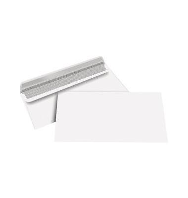 Briefumschläge Kompakt ohne Fenster selbstklebend 80g weiß 100 Stück
