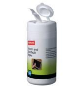 Bildschirm-Reinigungstücher feucht für Bildschirme/Monitor/Brille Spenderdose 100 Tücher