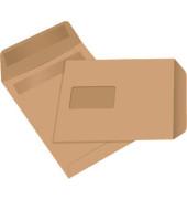 Versandtaschen C5 mit Fenster selbstklebend 80g braun 50 Stück