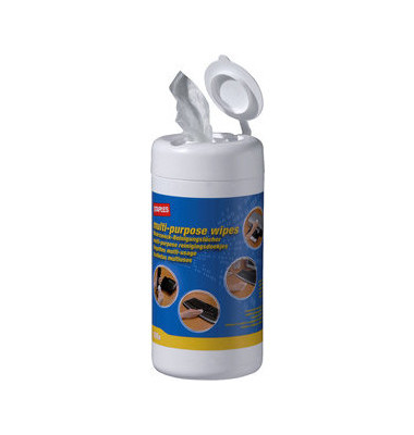 Reinigungstücher feucht für Oberflächen Spenderdose 100 Tücher