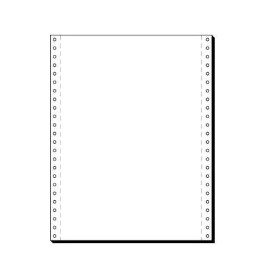 Computerpapier 1-fach 375mm x 12 Zoll blanco weiß 60g 2000 Blatt