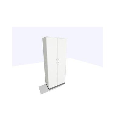 Aktenschrank ClassicLine SBBCI22-W3W3W3W3K0D0DD0003M, Holz/Stahl abschließbar, 5 OH, 80 x 198 x 45 cm, inkl. Montage, weiß