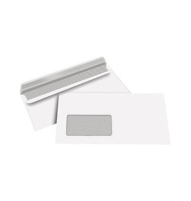 Briefumschläge Kompakt mit Fenster selbstklebend 80g weiß 100 Stück