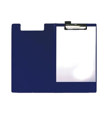 Klemmbrettmappe blau A4 Klemme kurze Seite