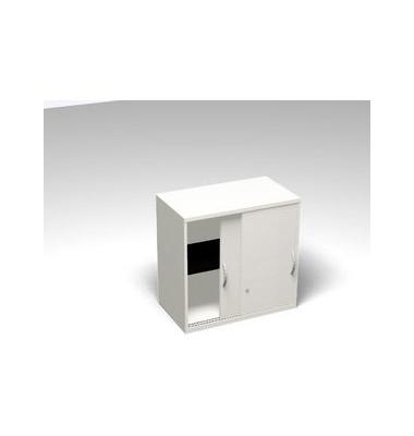 Aktenschrank ClassicLine SBCCD26-W3W3W3W3K0D01E3003, Holz abschließbar, 2 OH, 120 x 77 x 45 cm, weiß