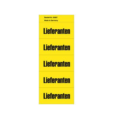 Inhaltsschilder Lieferanten gelb 57x28mm selbstklebend 100 Stück