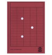 Umlaufmappe 80200 A4 250g Karton rot mit 3 Sichtlöchern