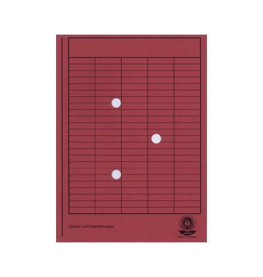 Umlaufmappe A4 RC-Karton rot A4