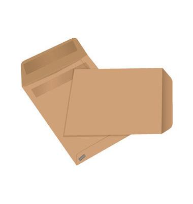 Versandtaschen C5 ohne Fenster selbstklebend 80g braun 500 Stück