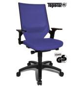 Bürodrehstuhl Autosyncro 1 mit Armlehnen blau