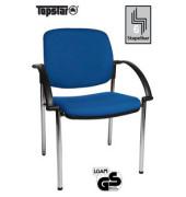 Visitor Open Chair 20 blau Besucherstuhl OC290A T38 gepolstert mit Stoffbezug mit Armlehnen