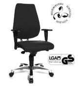 Bürodrehstuhl Sitness 30 mit Armlehnen schwarz