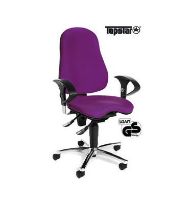 Bürodrehstuhl Sitness 10 mit Armlehnen lila