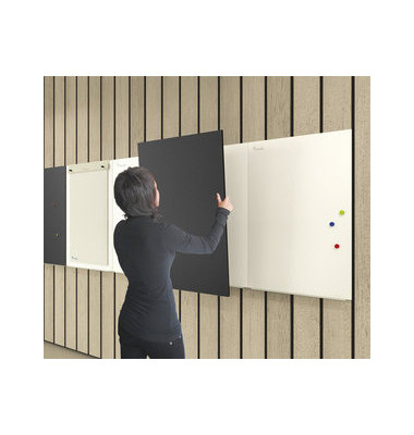 Whiteboardmodul Skin 98 x 148 cm lackiert weiß magnethaftend