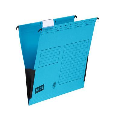 Hängetasche A4 230g Recyclingkarton blau 25 Stück 5856661