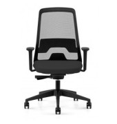 Bürodrehstuhl Every mit Armlehnen schwarz (Montage)