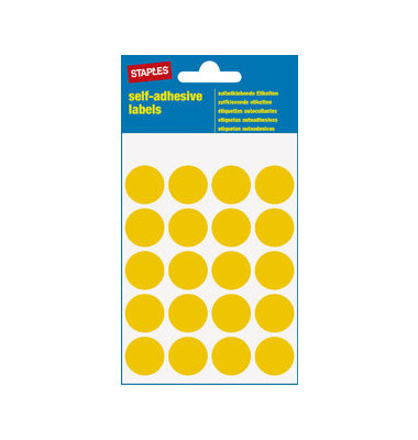 Markierungspunkte gelb Ø 19mm 100 Stück