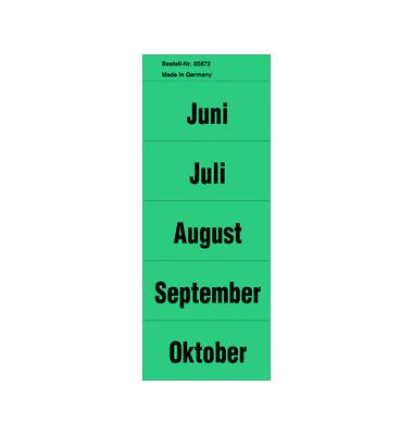 Inhaltsschilder Monate grün 57x28mm selbstklebend 100 Stück