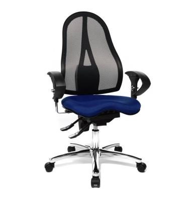 Bürodrehstuhl Sitness 15 mit Armlehnen blau
