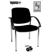 Visitor Open Chair 20 schwarz OC290A T20 gepolstert mit Stoffbezug mit Armlehnen