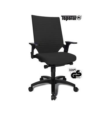 Bürodrehstuhl Autosyncro 2 mit Armlehnen schwarz