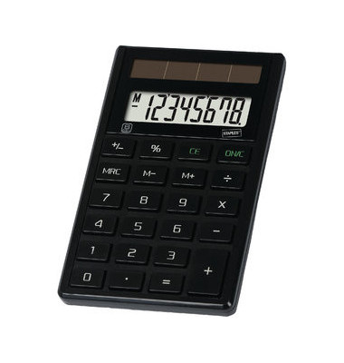 Taschenrechner ECO E21 8-stellig schwarz
