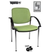 Visitor Open Chair 20 hellgrün Besucherstuhl OC290A T35 gepolstert mit Stoffbezug mit Armlehnen