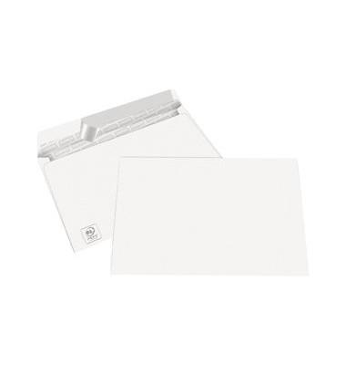 Briefumschläge C6 ohne Fenster haftklebend 80g weiß 100 Stück