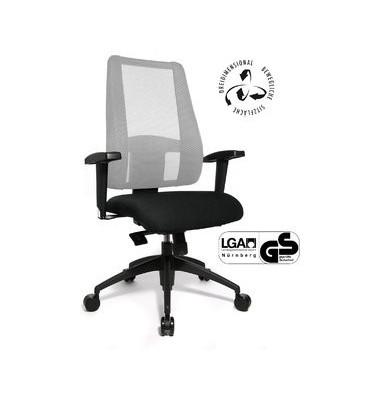 Bürodrehstuhl Lady Sitness Deluxe mit Armlehnen weiß