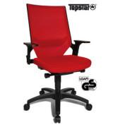 Bürodrehstuhl Autosyncron-1 mit Armlehnen rot