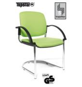 Visitor Open Chair 40 hellgrün Schwingstuhl OC490A T35 gepolstert mit Armlehnen
