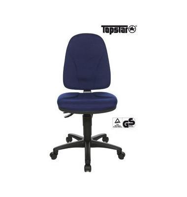 Bürodrehstuhl Point 20 ohne Armlehnen blau