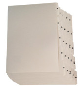 Leitregister Kunstoff A - Z, weiß, A4 quer, 25-tlg.