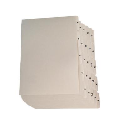 Leitregister Kunststoff A-Z A6-quer 25 Blatt weiß