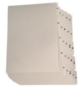Leitregister·Kunststoff·A - Z·A7 quer·25 Blatt·weiß