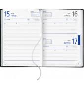 Buchkalender A5 1Tag/1Seite schwarz 15x21cm 2017