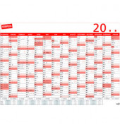 Plakatkalender 14Monate/1Seite 100x70cm 2019
