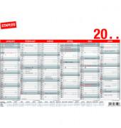 Plakatkalender 6Monate/1Seite A4-quer 2021