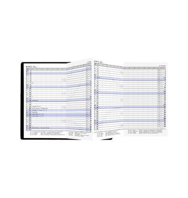 Taschenkalender 1Monat/2Seiten schwarz 9x15cm 2021