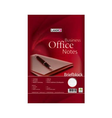 Schreibblock OFFICE A4 weiß kariert gelocht 100 Blatt