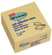 Haftnotizwürfel stickies 76 x 76 mm gelb 400 Blatt